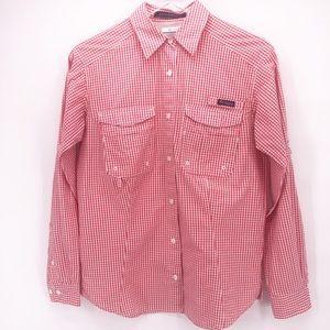 Colombia PFG Super Bonehead Red Checked Shirt s/p